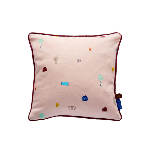 OYOY Happy Circus Cushion - Pale Rose