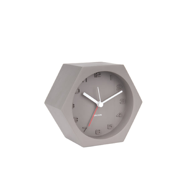Karlsson Alarm Clock Hexagon Concrete