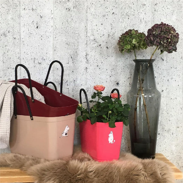 Small Green Plastic Hinza bags 小號環保多功能籃 ( Maroon )