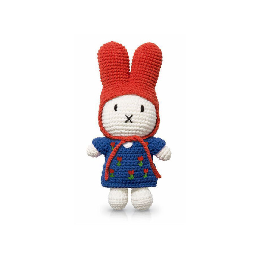 Miffy handmade and her blue tulip dress + red hat
