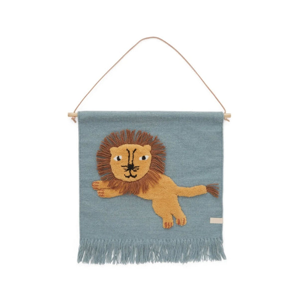 OYOY Jumping Lion Wall Hanger