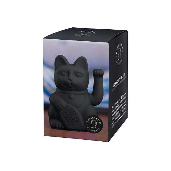 Lucky Cat Black MANEKI NEKO by donkey