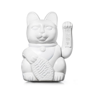 Lucky Cat Large White MANEKI NEKO by donkey
