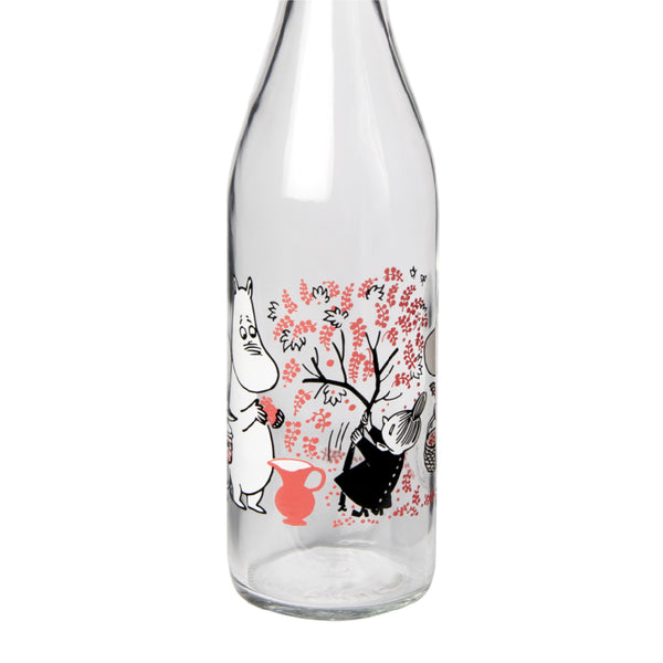 Moomin Glass Bottle Berries 0.5L 姆明玻璃水瓶