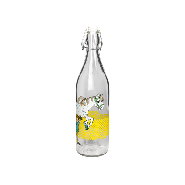 Pippi And The Horse Bottle 1L 玻璃水瓶