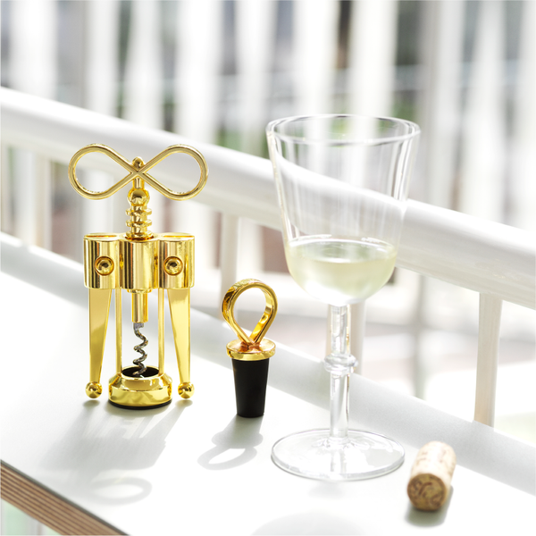 Porter Wine Stopper Brass
