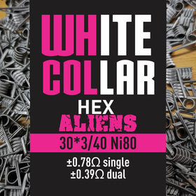 White Collar coils - Pink Alien 3*30/40 7 Wrap