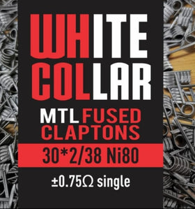 White Collar coils - MTL Red Clapton 2*30/38 6 Wrap
