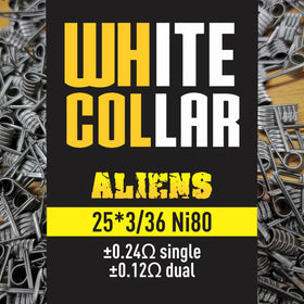 White Collar Coil - Yellow Alien 3*25/36 6 Wrap