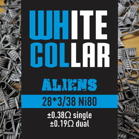 White Collar coils - Blue Alien 28*3/38 6 Wrap