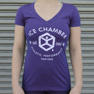 Ice Chamber 10 years Anniversary Women's Tee - Heather Violet