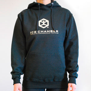 Ice Chamber Logo Hooded Unisex Sweatshirt - Black