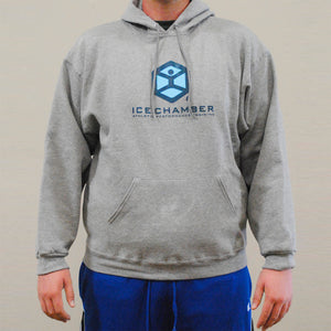Ice Chamber Logo Hooded Unisex Sweatshirt - Grey
