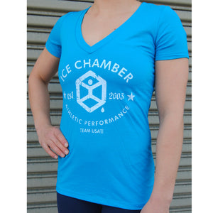 Ice Chamber 10 years Anniversary Women's Tee - Blue