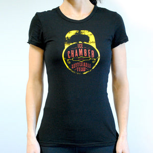 Ice Chamber Kettlebell Team Women's Fitted Tee - Black