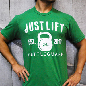 Just Lift 24kg Unisex Tee - Kelly Green