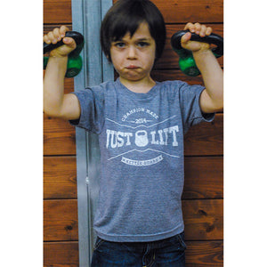 Just Lift for Kids Tee - Grey