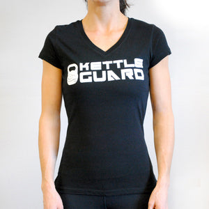 KettleGuard Women's Sporty V-Neck Tee - Black