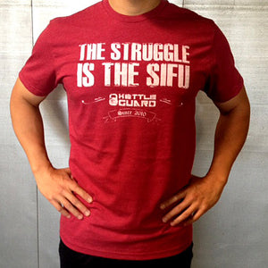 """The Sifu"" Men's Crew Tee - Cardinal Red"