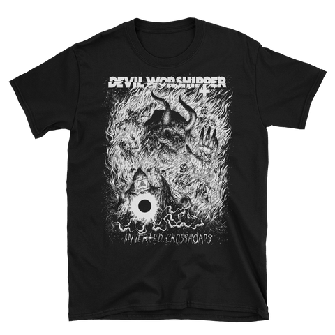 DEVIL WORSHIPPER Inverted Crossroads T-Shirt