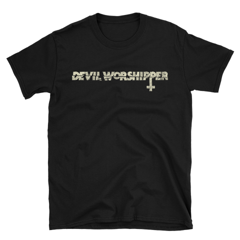 Devil Worshipper Upside Down Cross T-Shirt