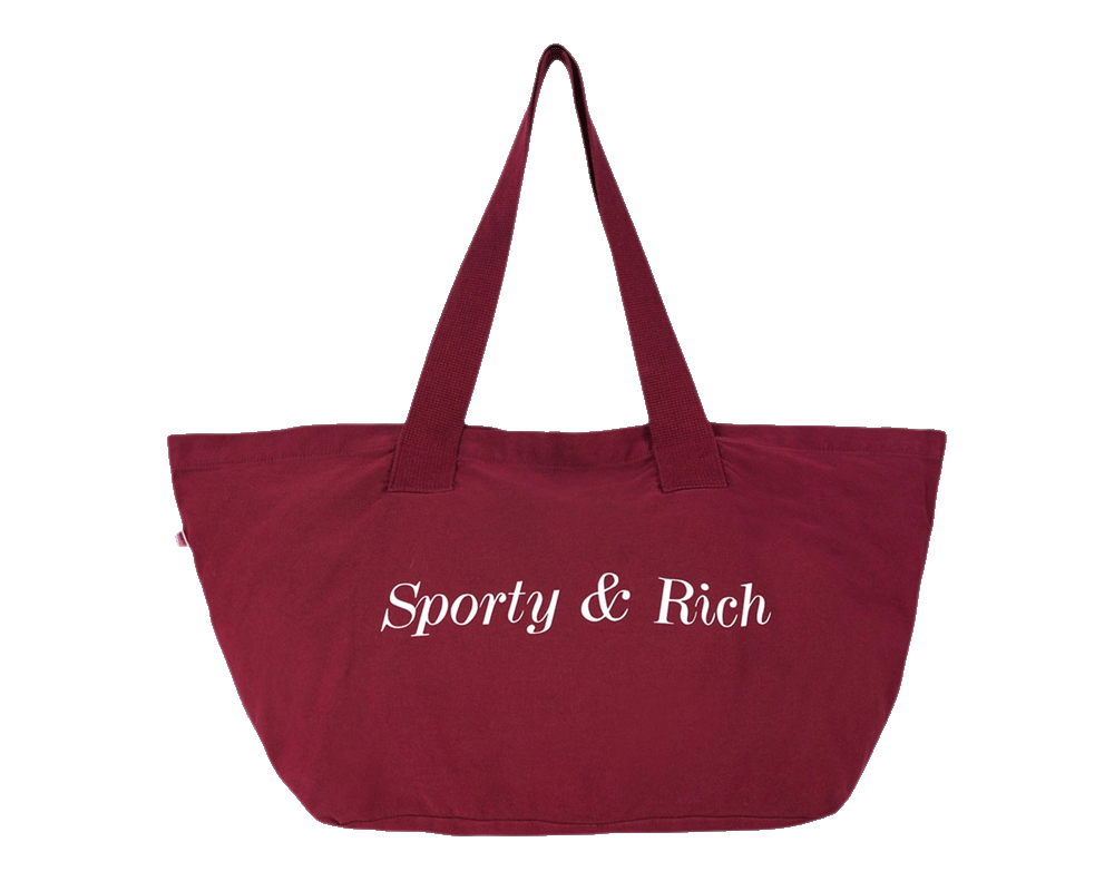 Sporty & Rich Classic Logo Tote