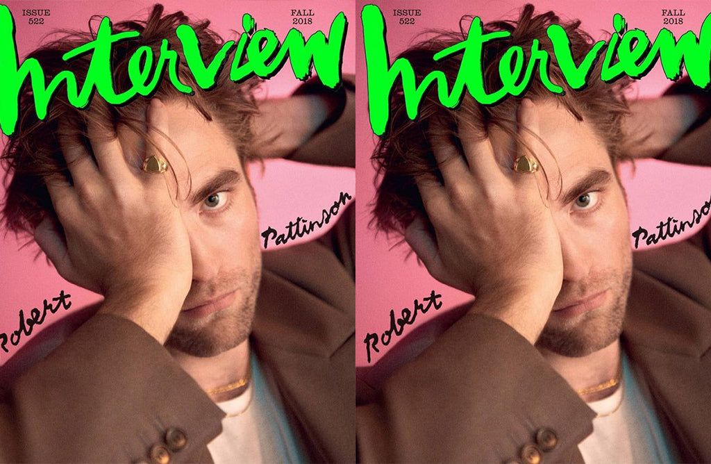 ROB PATTINSON ON THE COVER OF INTERVIEW FALL 2018 WEARING SHAMI