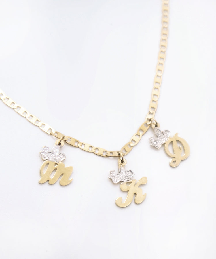 THE ANGELIC INITIAL NECKLACE