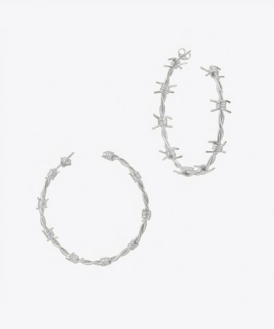 BARBWIRE HOOP EARRINGS