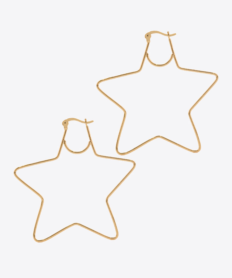 shami star hoop earrings kelly shami jewelry