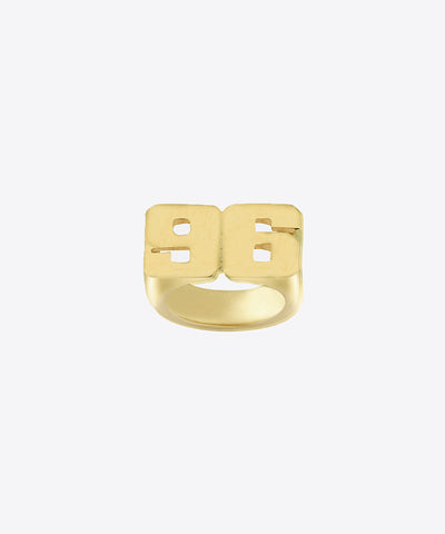BLOCK YEAR NAMEPLATE RING