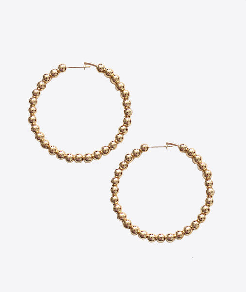 STEVIE BALL HOOP EARRINGS