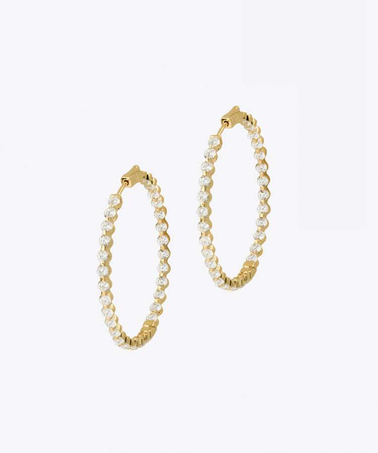 FIFTH AVE RITZY HOOP EARRINGS