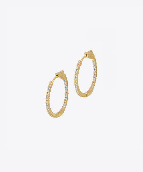 FIFTH AVE THIN MINI HOOP EARRINGS
