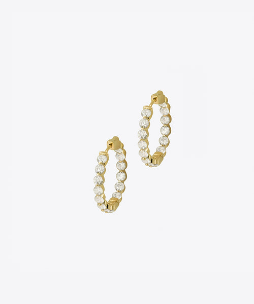 FIFTH AVE RITZY MINI HOOP EARRINGS