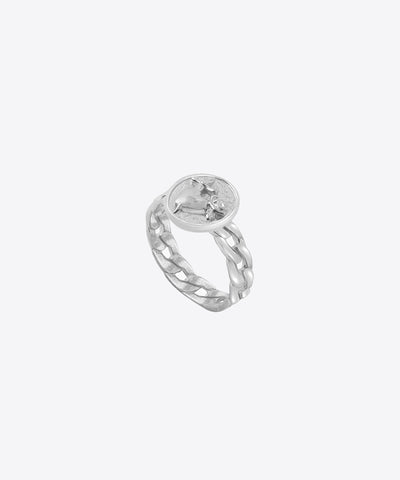 HEART AND DAGGER SIGNET RING