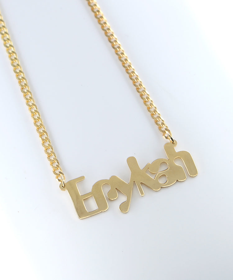 THE ERYKAH NAMEPLATE NECKLACE