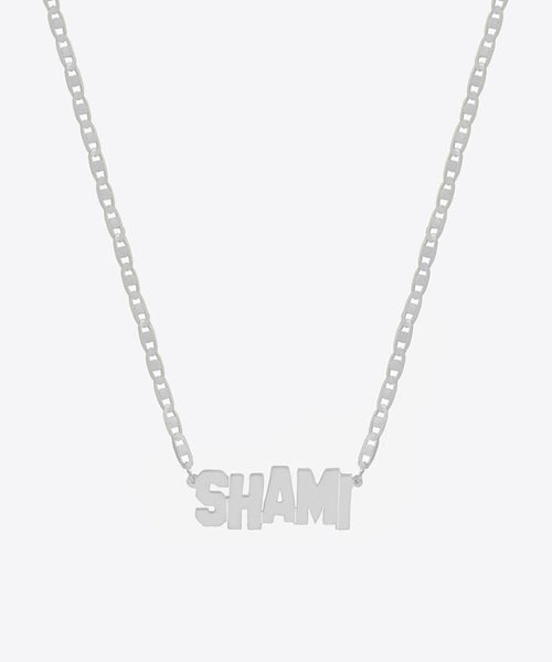 HOLLYWOOD NAMEPLATE NECKLACE