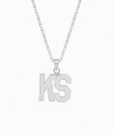 JERSEY INITIAL NAMEPLATE NECKLACE