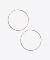 CIRCLE PATTERNED LARGE HOOP EARRINGS
