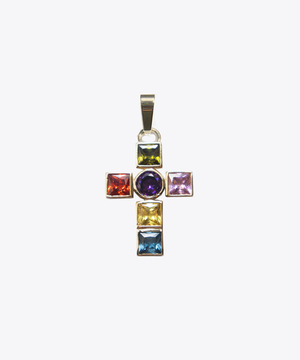 LEADLIGHT CROSS CHARM