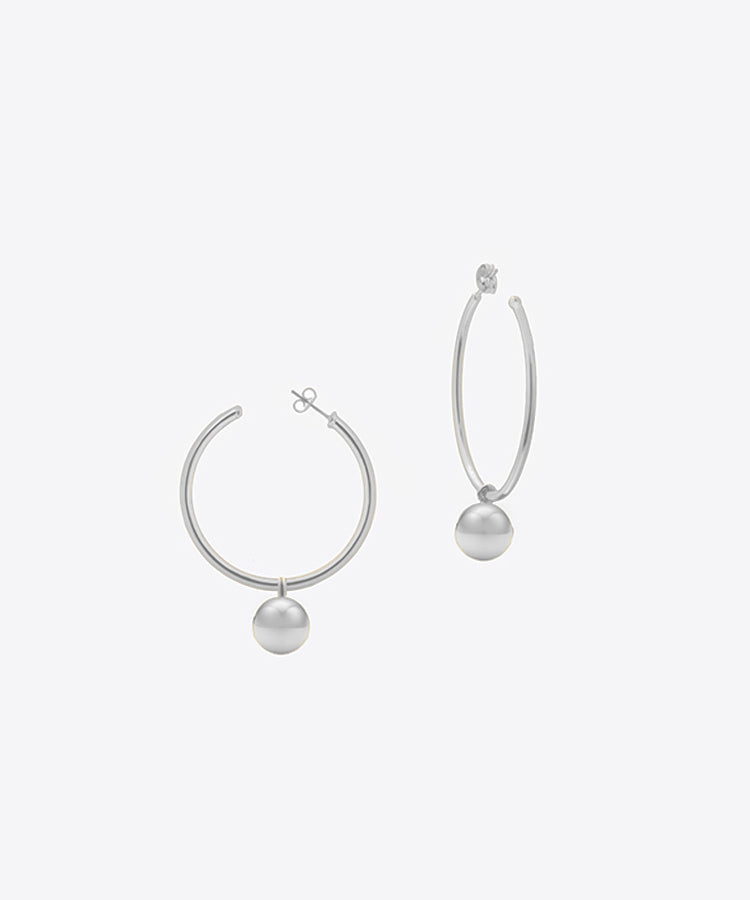 LULU DANGLE HOOP EARRINGS
