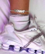 PUFFY NAMEPLATE ANKLET