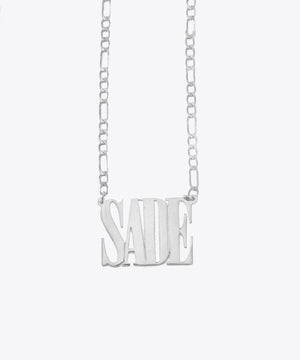 THE SADE NAMEPLATE NECKLACE
