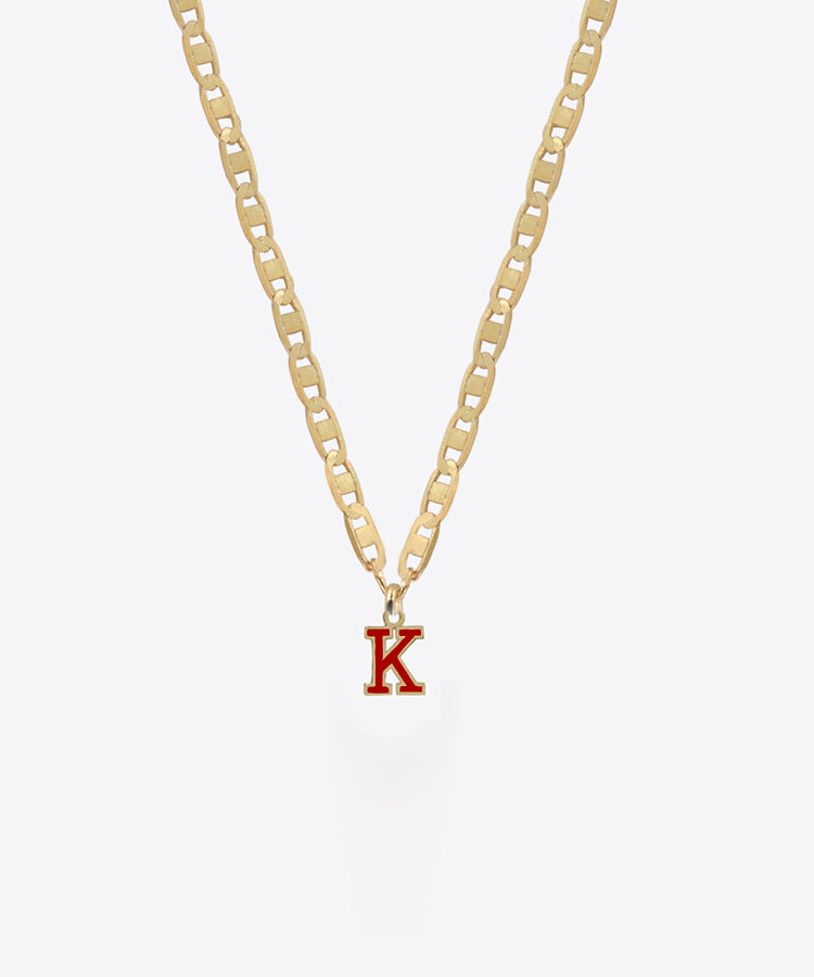 SINGLE VARSITY LETTER NECKLACE