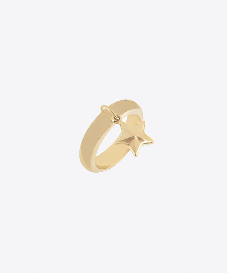 STAR DANGLE RING