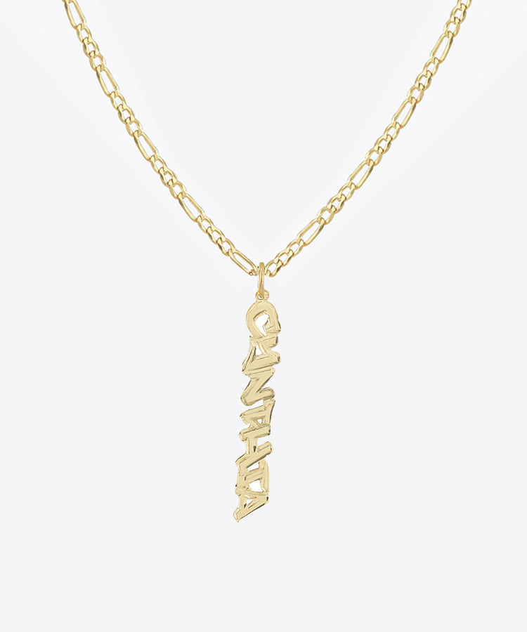 THE VERTICAL TAG NAMEPLATE NECKLACE