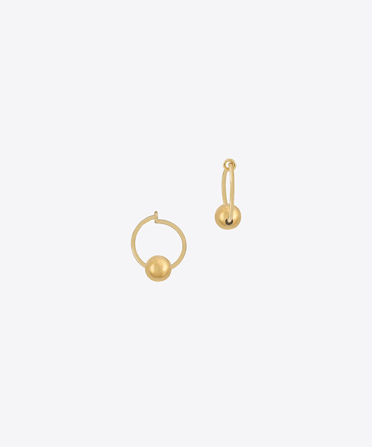 ball hoop earrings mini hoop earrings SHAMI shami official shami jewelry