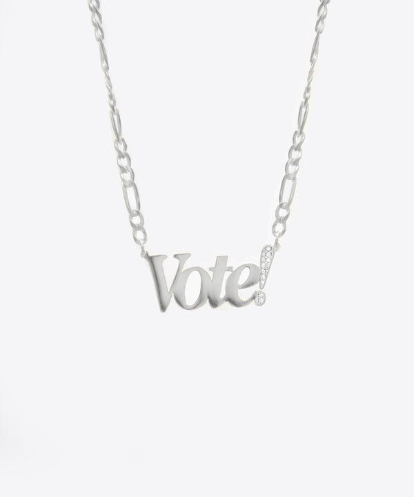 THE VOTE! NECKLACE WITH DIAMONDS