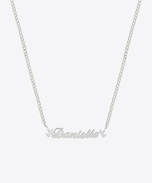THE ANGELIC NAMEPLATE NECKLACE